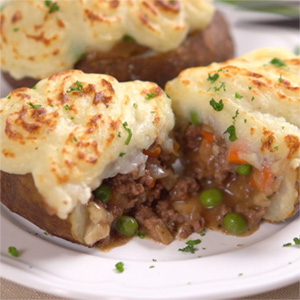 Sheppard Pie potato skins