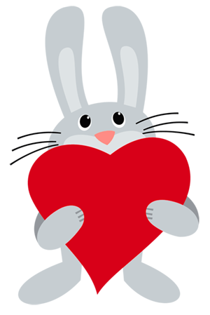 Bunny with Heart PNG Picture