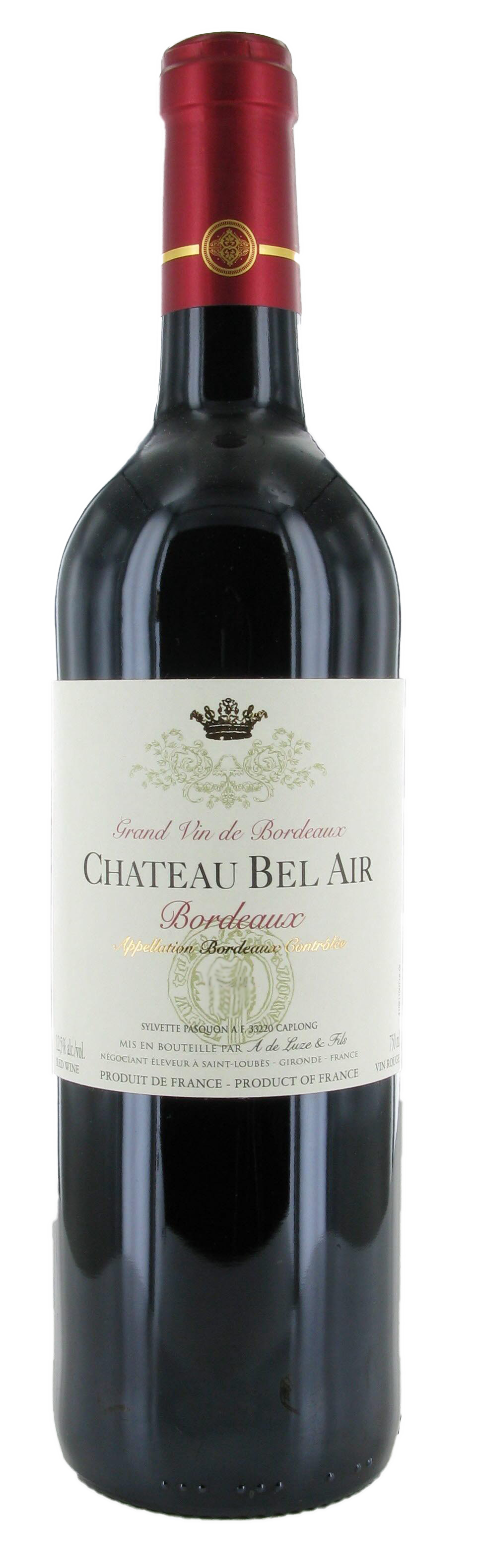 Chateau Bel Air no vintage